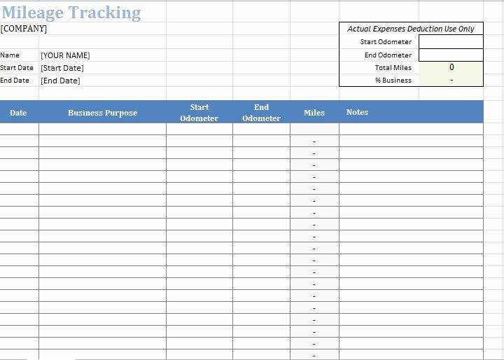 Irs Mileage Log Template Elegant 30 Printable Mileage Log Templates Free Template Lab