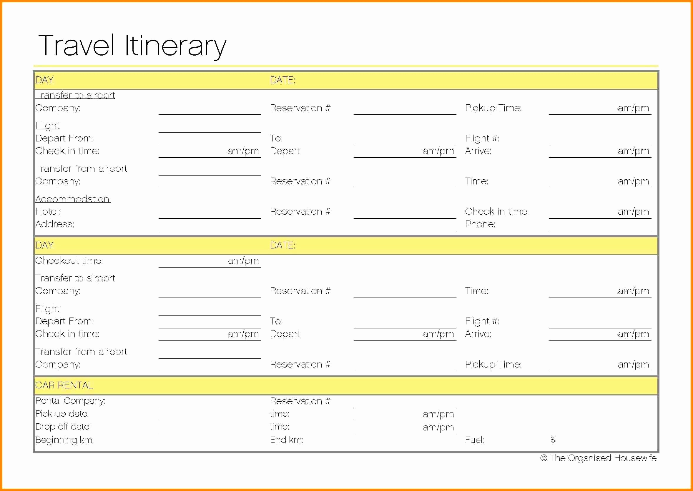 Itinerary Template Google Docs Beautiful Travel Itinerary Template Google Docs