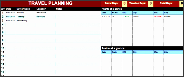 Itinerary Template Google Docs New 10 Vacation Itinerary Planner Free Cost