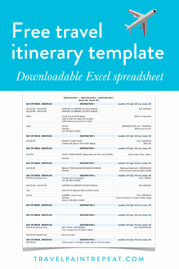 Itinerary Template Google Docs Unique the Travel Itinerary Template I Use to Plan All My Trips