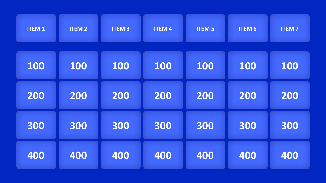 Jeopardy Powerpoint Template 5 Categories Elegant Jeopardy Game Powerpoint Templates