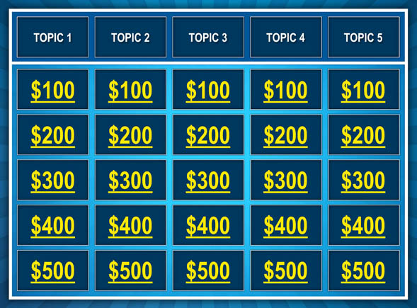 jeopardy powerpoint template 5 categories