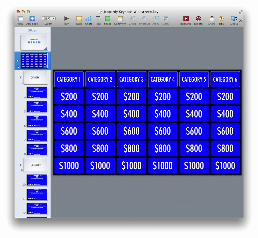 Jeopardy Powerpoint Template 5 Categories Elegant Keynote Jeopardy Template for Ipad and Widescreen