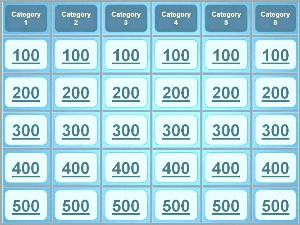 Jeopardy Powerpoint Template 5 Categories Luxury Jeopardy Powerpoint Template 6 Categories Rakutfufo