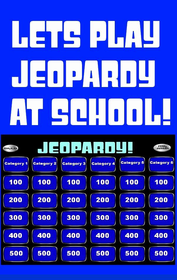 Jeopardy Powerpoint Template 5 Categories Unique Jeopardy Powerpoint Smartboard Template