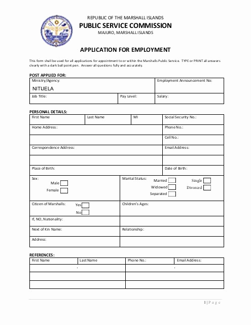 Job Application form Pdf Best Of Rmi Psc Job Application form Pdf