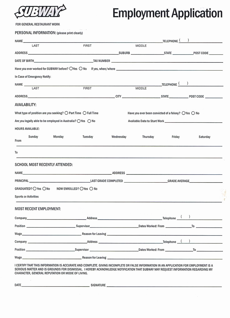 Job Application form Sample Unique Best 25 Printable Job Applications Ideas On Pinterest