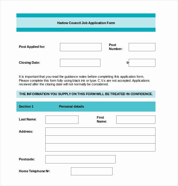 Job Application form Template Elegant Employment Application Templates – 10 Free Word Pdf