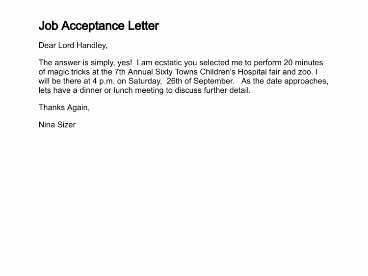 Job Offer Acceptance Letter Reply Awesome How to Write A Letter Of Acceptance