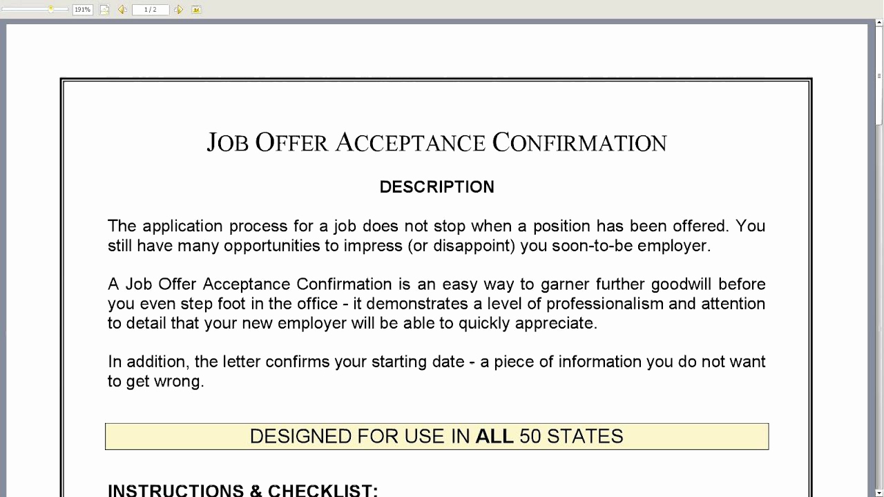 Job Offer Acceptance Letter Reply Inspirational Job Fer Acceptance Confirmation