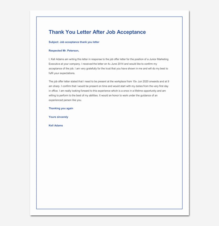 Job Offer Acceptance Letter Reply Luxury How to Accept Job Fer Acceptance Letter & Email Sample