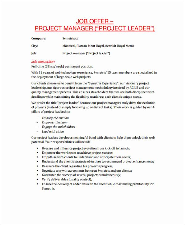 Job Offer Letter Example Best Of 25 Job Fer Letter Example