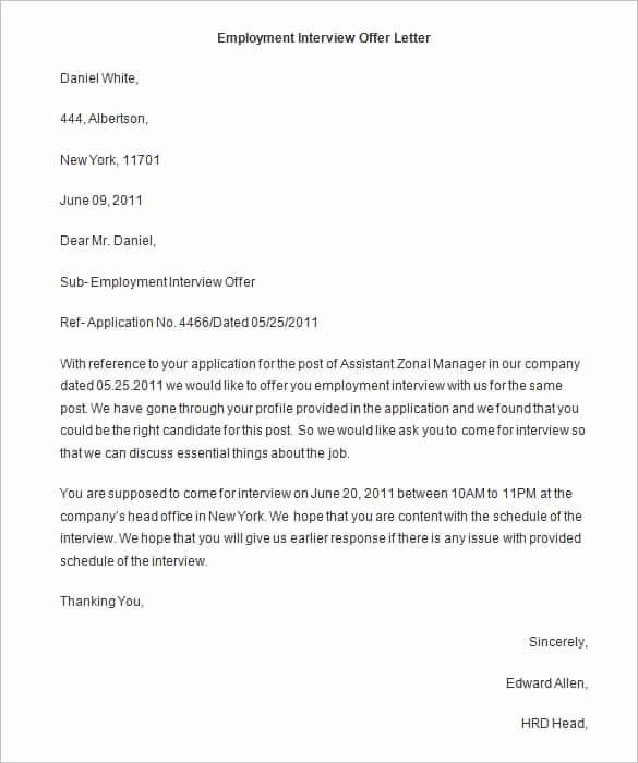 Job Offer Letter Example Elegant 70 Fer Letter Templates Pdf Doc