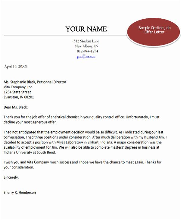 Job Offer Letter Example Inspirational 40 Fer Letter Examples