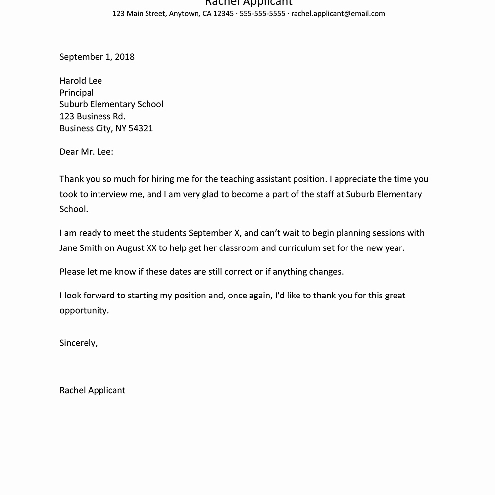 Job Offer Thank You Letter Lovely A Job Fer Rescinding Letter Template Free Sample