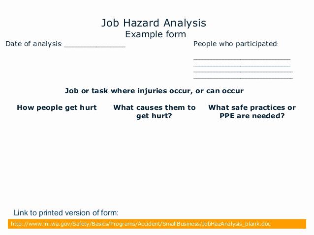 Job Safety Analysis form Beautiful Jsa2009