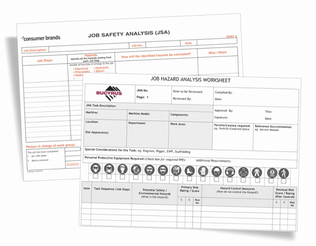 Job Safety Analysis form Unique Job Safety Analysis forms Jsa Jha form Printing