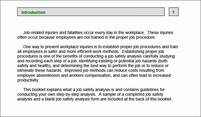Job Safety Analysis Template Elegant 10 Sample Job Safety Analysis Templates Pdf Doc