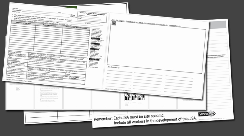 Job Safety Analysis Template New Job Safety Analysis Templates 4 Free forms for Word and Pdf