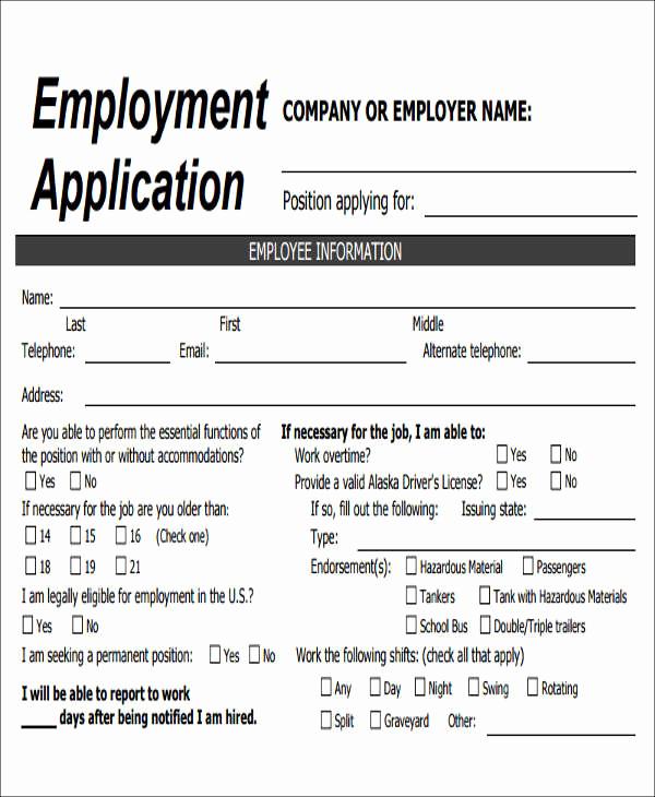 Jobs Application form Pdf Luxury 49 Job Application form Templates