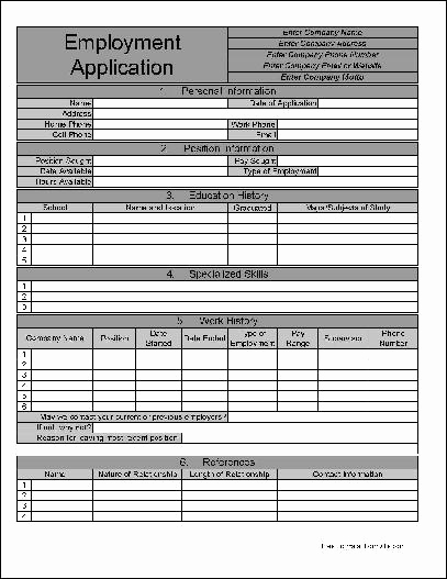 Jobs Application form Pdf New Free Numbered Row Personalized Job Application From formville