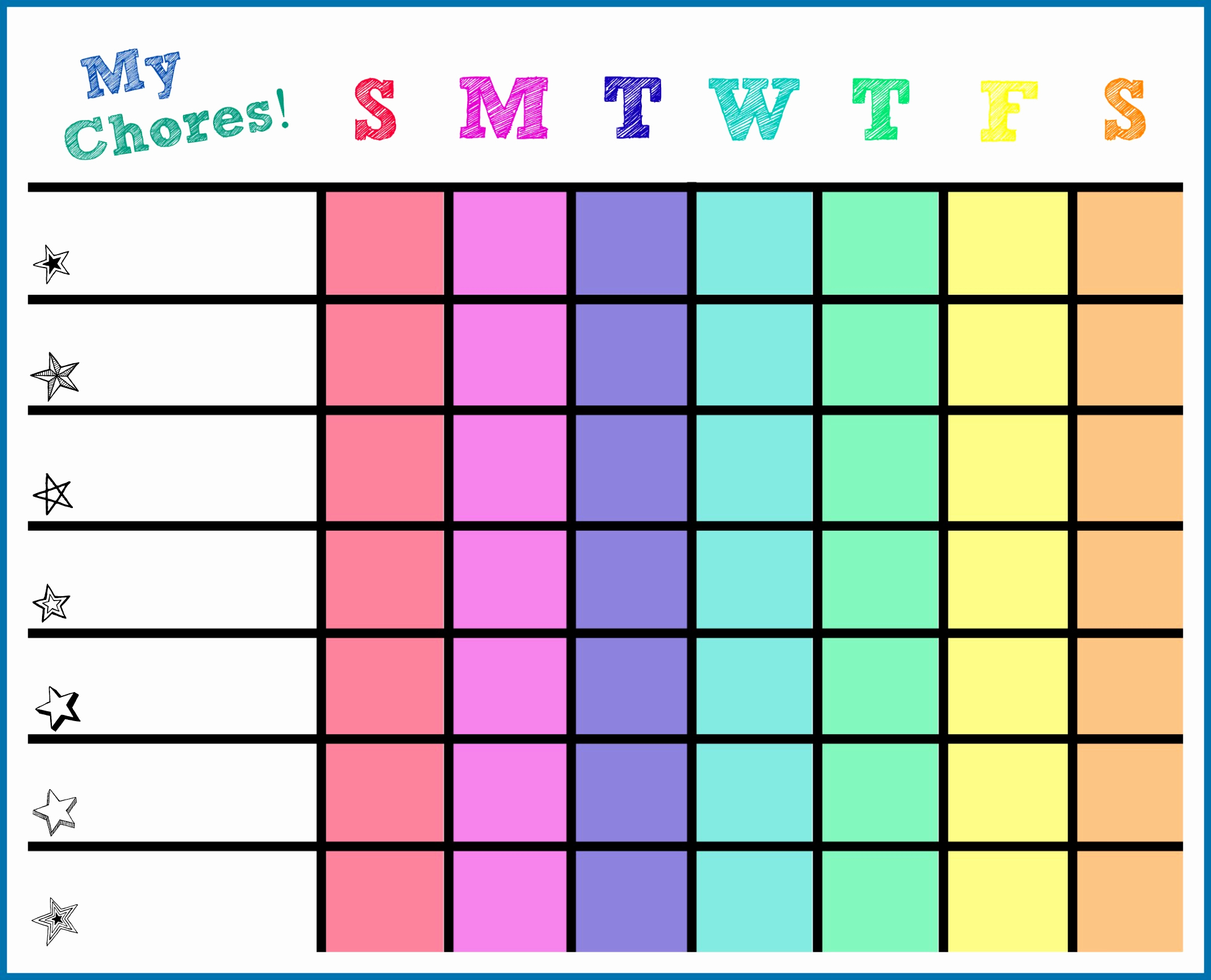 Kids Chore Chart Template Luxury Free Printable toddler Chore Chart Template