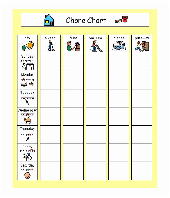 Kids Chore Chart Template Unique 9 Family Schedule Templates Doc Pdf