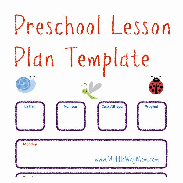 Kindergarten Lesson Plan Template Best Of Preschool Lesson Plan Template