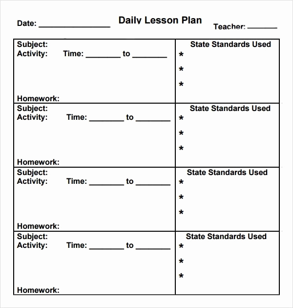 Kindergarten Lesson Plan Template Inspirational Preschool Lesson Plan Template 10 Download Free