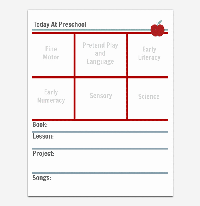 Kindergarten Lesson Plan Template Inspirational Preschool Lesson Plan Template Daily Weekly Monthly