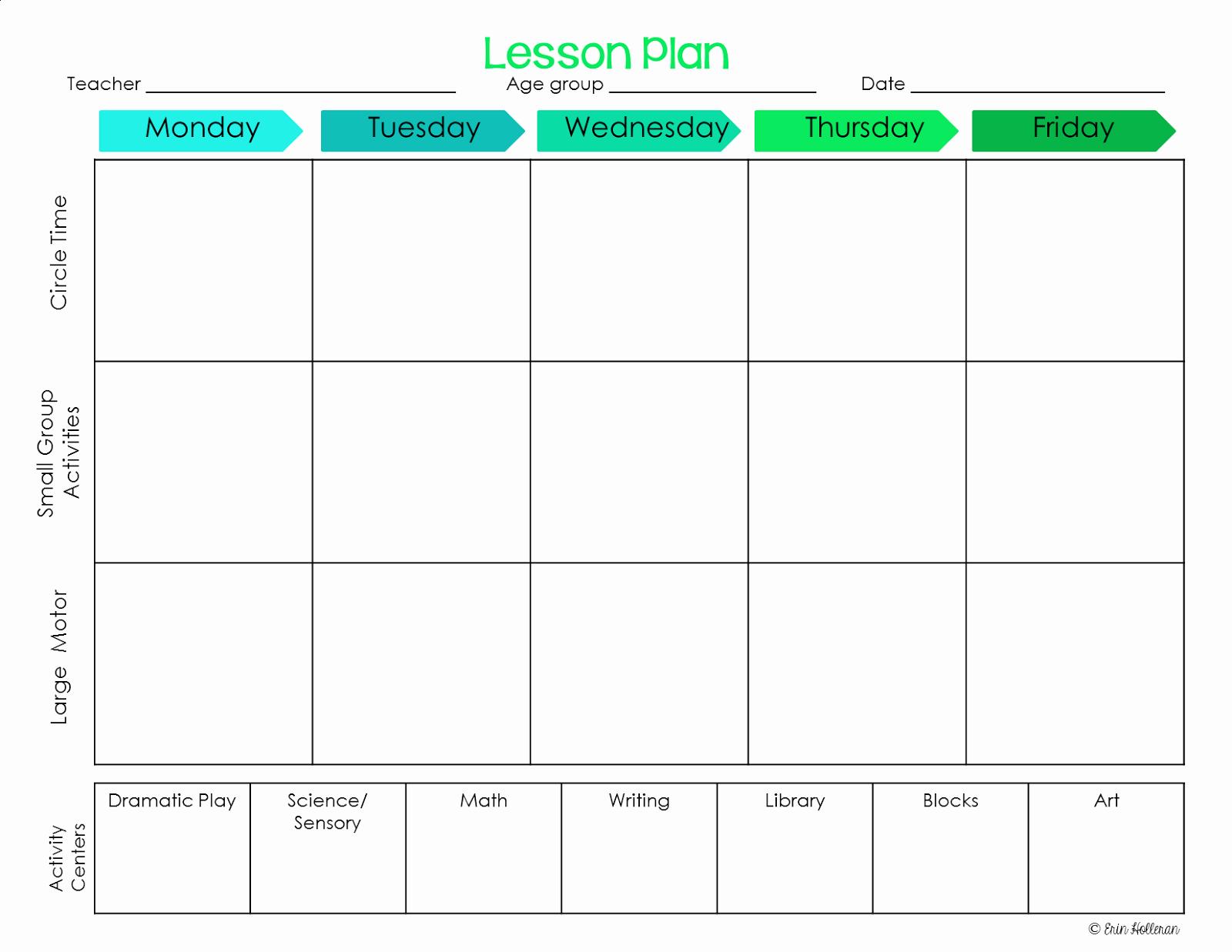 Kindergarten Lesson Plan Template Unique Preschool Ponderings Make Your Lesson Plans Work for You