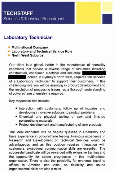 Lab Technician Cover Letter Elegant Example Job Advertisements Current Undergraduates the