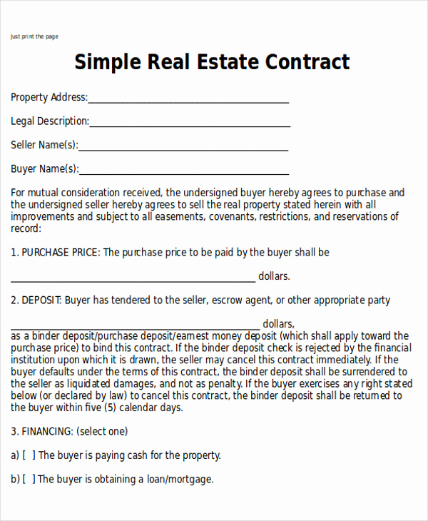 Land Purchase Agreement form Pdf Awesome Sample Home Sales Contracts 7 Examples In Word Pdf