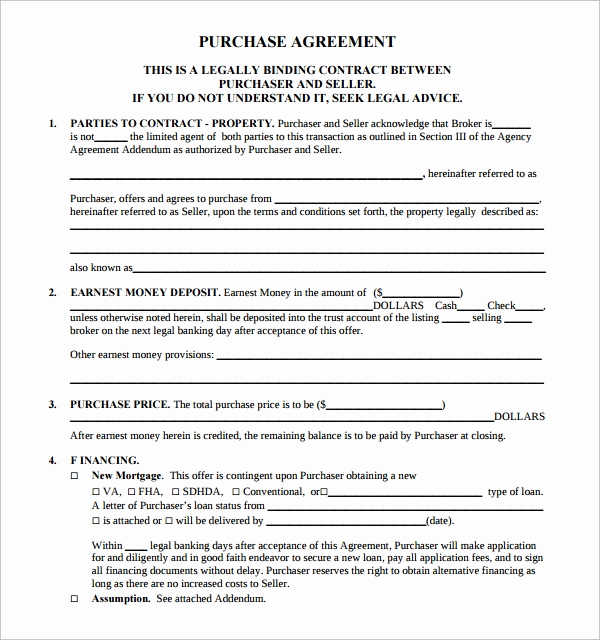 Land Purchase Agreement form Pdf Fresh 14 Sample Real Estate Purchase Agreement Templates