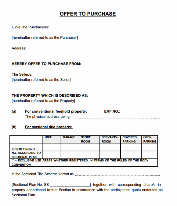 Land Purchase Agreement form Pdf Luxury Sample Fer to Purchase Real Estate form 9 Documents