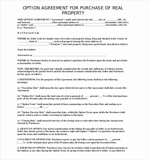 purchase agreement