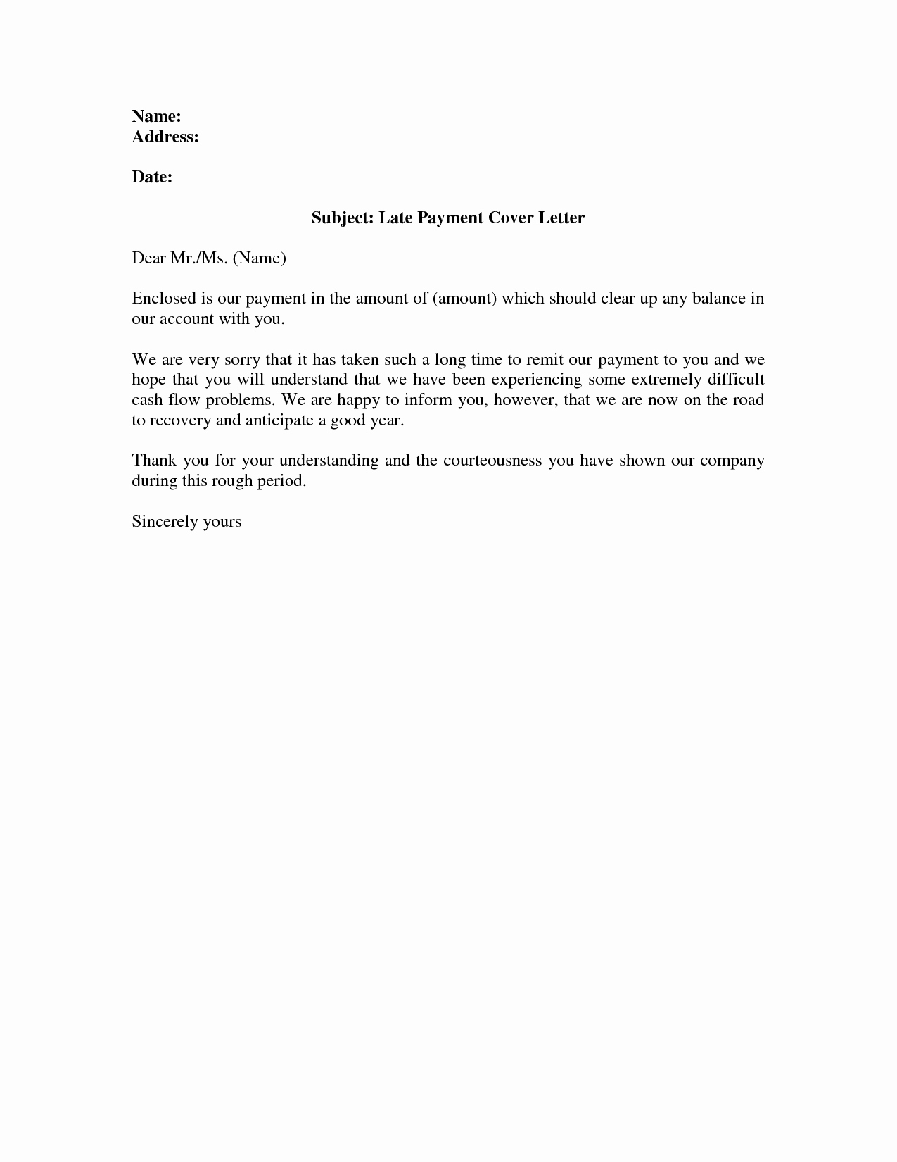 Late Rent Payment Letter Beautiful Late Payment Explanation Letter Resume Samples
