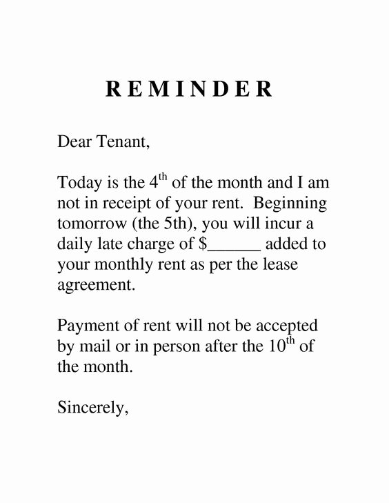 Late Rent Payment Letter Best Of Sample Letter to Tenant for Late Payment Google Search