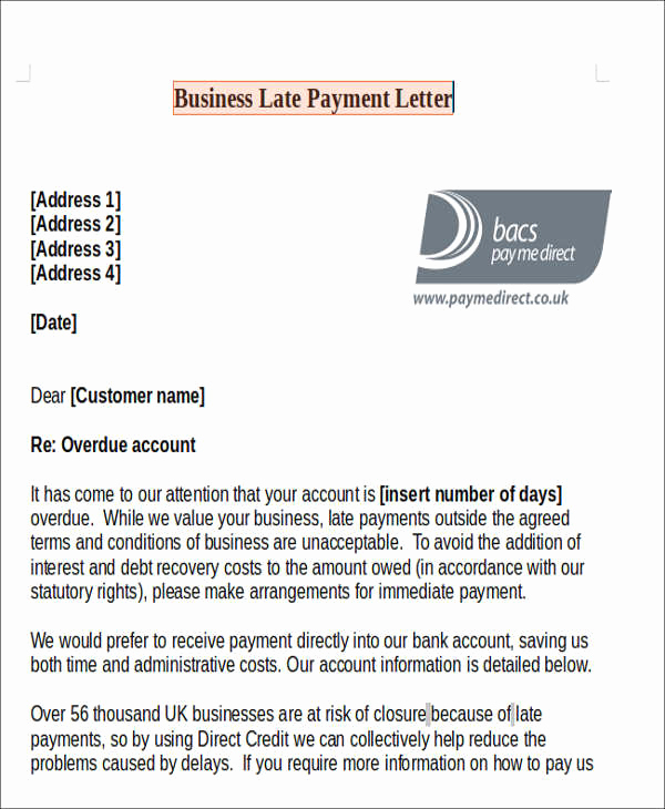 Late Rent Payment Letter Fresh 11 Late Payment Letter Templates Word Google Docs