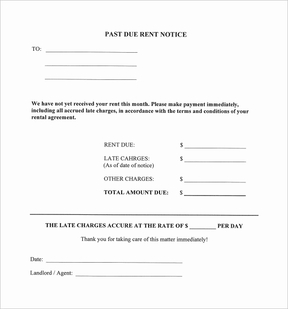 Late Rent Payment Letter Luxury 9 Late Rental Notice Templates Pdf Google Docs Ms
