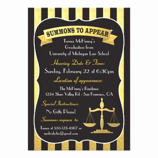Law School Graduation Announcements Awesome 123 Best Law School Graduation Invitations Images On Pinterest