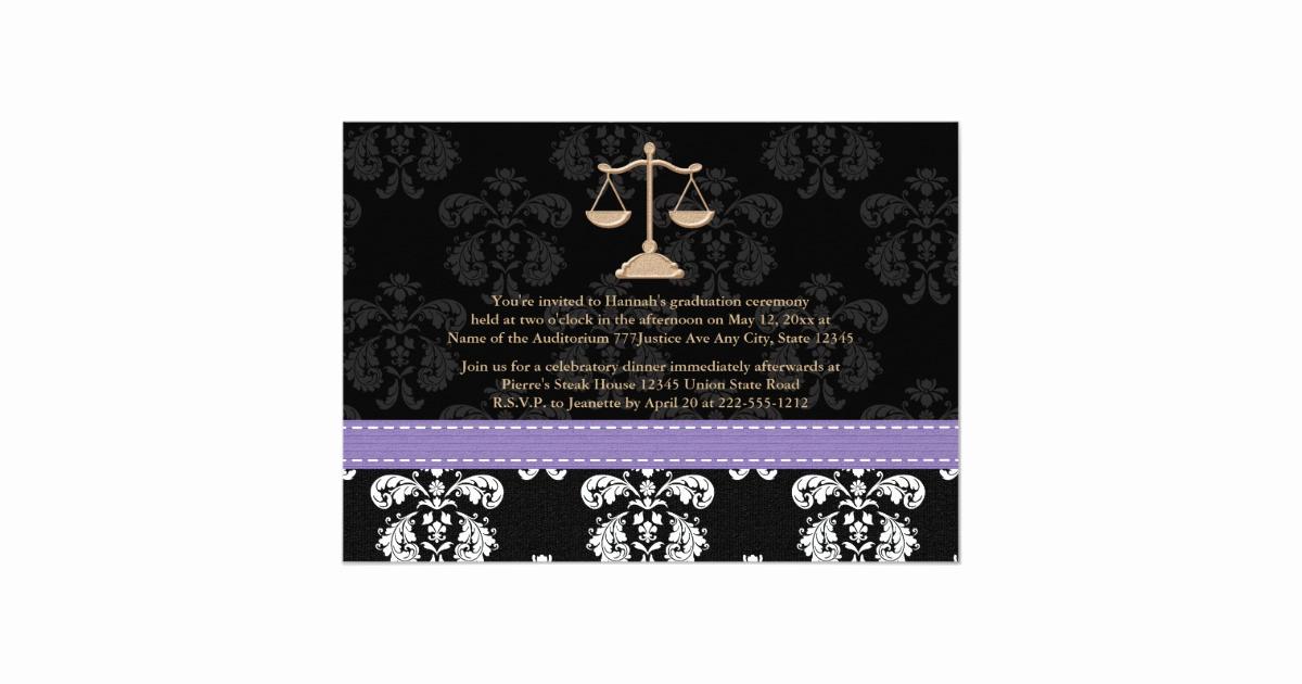 Law School Graduation Announcements Best Of Law School Graduation Announcements Invites Purple