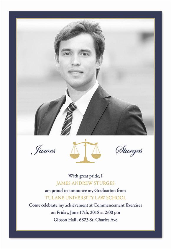 Law School Graduation Announcements Fresh 49 Graduation Invitation Designs & Templates Psd Ai