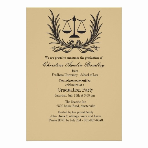 Law School Graduation Announcements Fresh Justice Wreath Law School Graduation Invitation