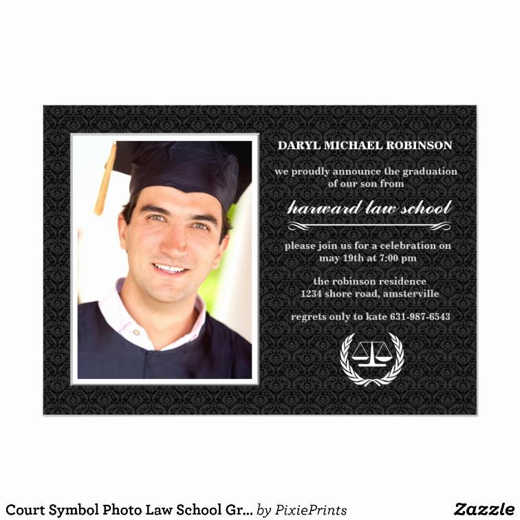 Law School Graduation Announcements Inspirational Court Symbol Law School Graduation Invite
