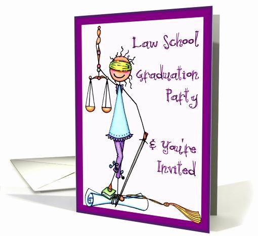 Law School Graduation Announcements Inspirational Law School Graduation Party Invitation Card