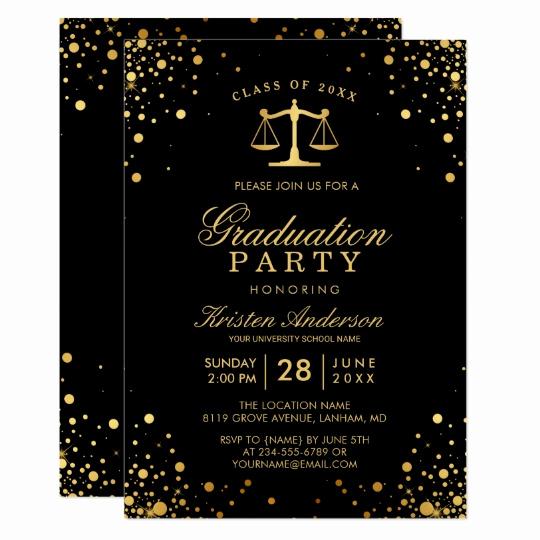 Law School Graduation Announcements Lovely Class Of 2019 Law School Graduate Graduation Party