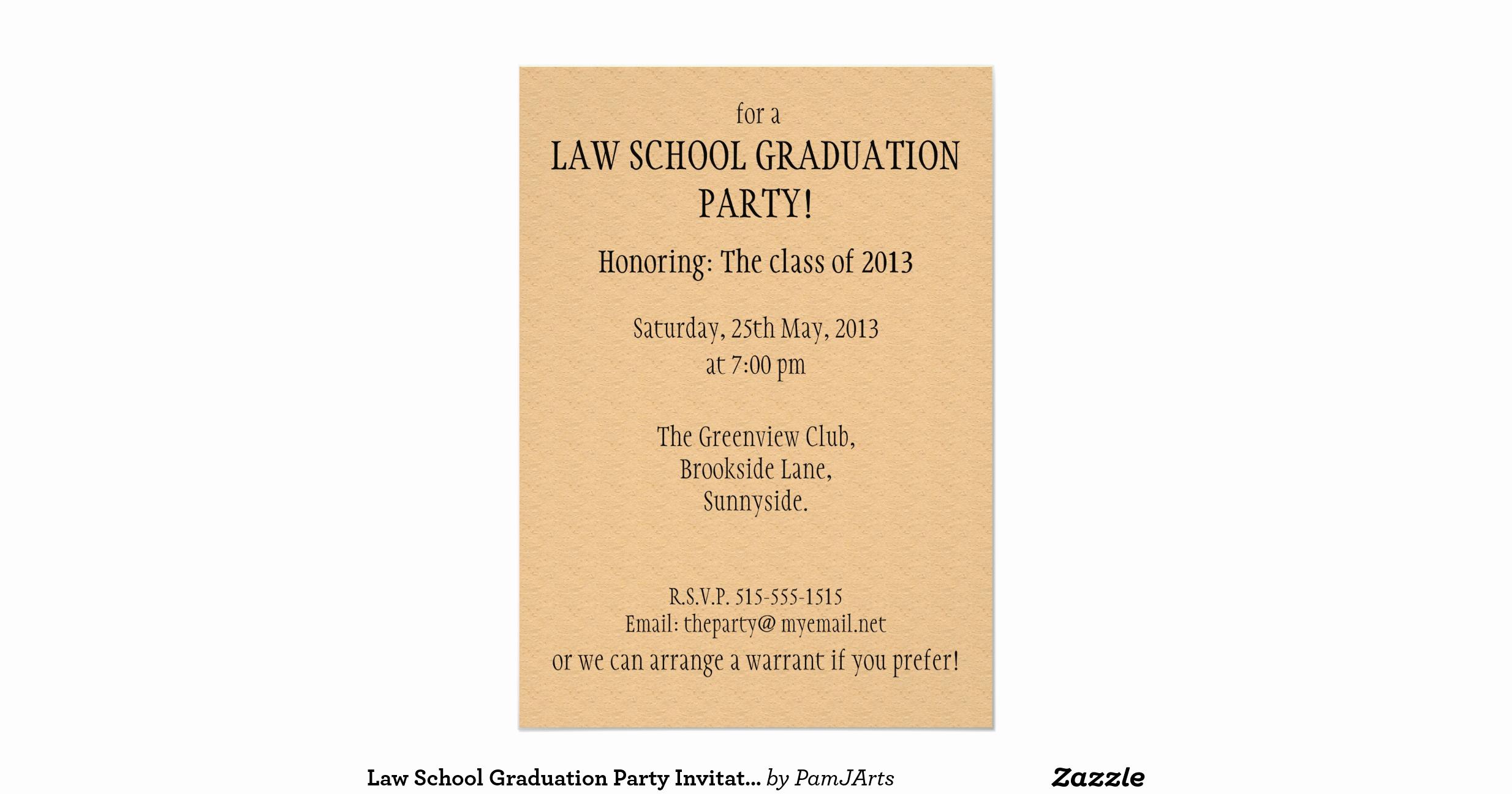 Law School Graduation Announcements Lovely Law School Graduation Party Invitation Summons