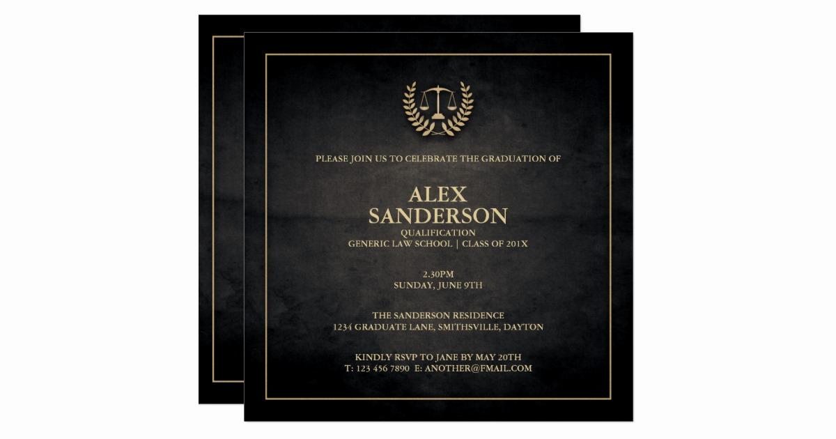 Law School Graduation Announcements New Law School Graduation Announcement Black