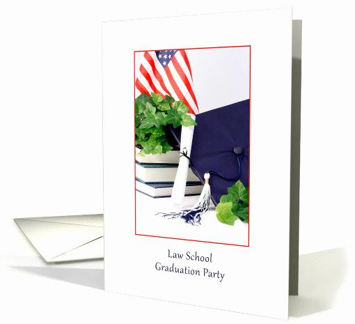 Law School Graduation Announcements New Law School Graduation Party Invitation Cap Scroll Books
